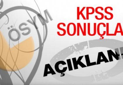 KPSS lisans sınavı sonuçları açıklandı!