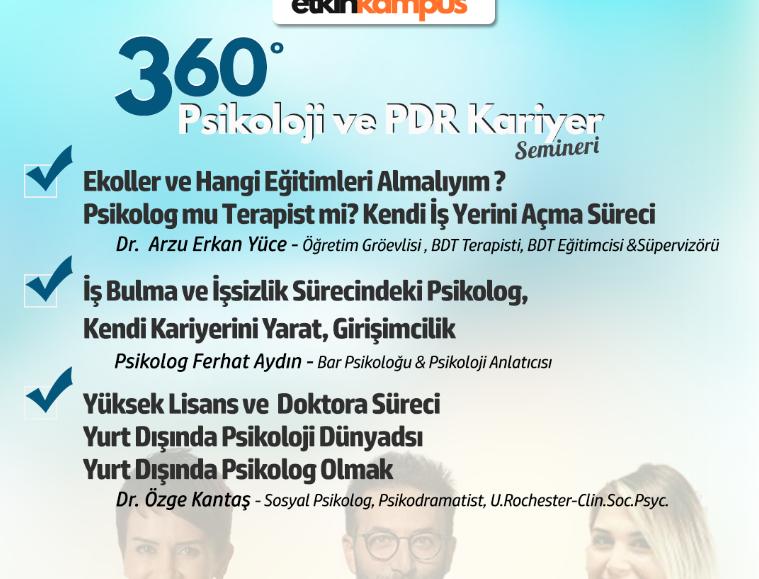 360 ° Psikoloji ve PDR Kariyer Semineri