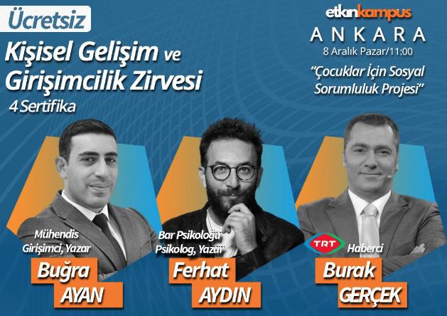 Ankara Kişisel Gelişim ve Girişimcilik Zirvesi