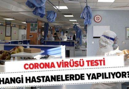 COVİD19 TESTİ YAPAN HASTANELER